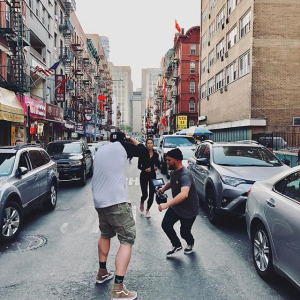Down in Chinatown @barboza @studiostevephotos #chinatown #nyc #redepic #moviemaking #streetstyle #running #wirsinddieguten #buildyourself